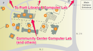 LITS Quick Start Guide, Community Center Computer Lab Map