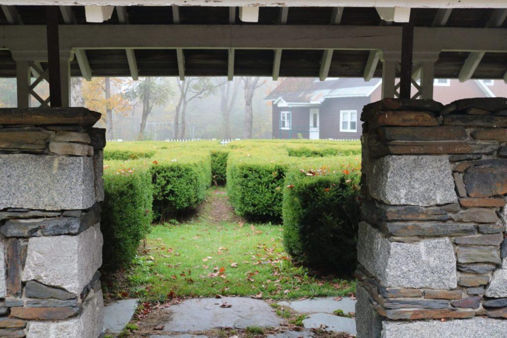Entrance to a hedge maze